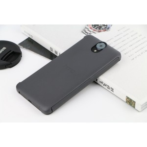Точечный чехол смарт флип с функциями оповещения на пластиковой основе для HTC One E9+ Серый