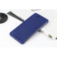 Точечный чехол смарт флип с функциями оповещения на пластиковой основе для HTC One E9+ Синий