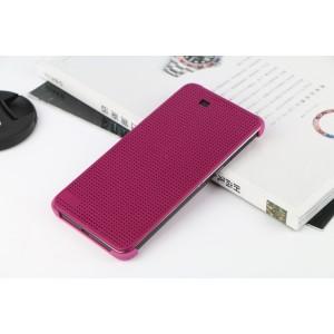 Точечный чехол смарт флип с функциями оповещения на пластиковой основе для HTC One E9+