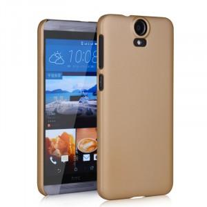 Пластиковый матовый непрозрачный чехол для HTC One E9+ Бежевый