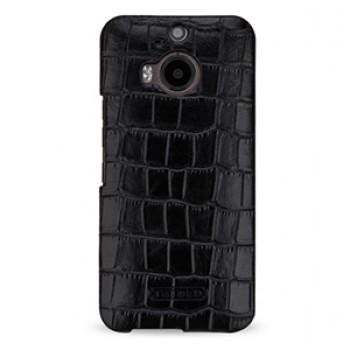 Кожаный чехол накладка (нат. кожа крокодила) для HTC One M9+