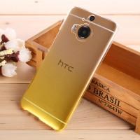 Пластиковый градиентный полупрозрачный чехол для HTC One M9+ Желтый
