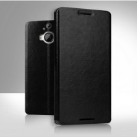 Чехол флип подставка водоотталкивающий для HTC One M9+ Черный