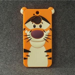 Силиконовый дизайнерский фигурный чехол для HTC One M9+ Оранжевый