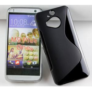 Силиконовый S чехол для HTC One M9+ Черный