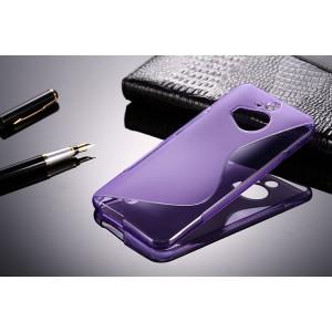 Силиконовый S чехол для HTC One M9+ Фиолетовый