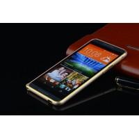 Металлический бампер для HTC One M9+ Бежевый