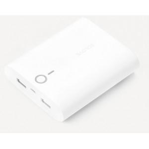 Портативное зарядное устройство 10000mAh с 2 USB-разъемами (1А, 2.1А) и софт-тач покрытием дизайн Макарони Белый