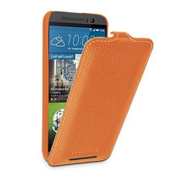 Кожаный чехол вертикальная книжка (нат. кожа) для HTC One M9