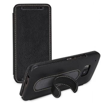 Кожаный чехол горизонтальная книжка подставка (нат. кожа) для HTC One M9