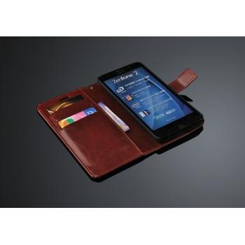 Чехол портмоне подставка с защелкой для Asus Zenfone 2