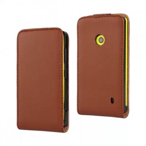 Чехол вертикальная книжка на пластиковой основе с магнитной застежкой для Nokia Lumia 520