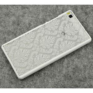 Пластиковый полупрозрачный дизайнерский чехол с УФ-принтом для Huawei P8