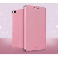 Чехол флип подставка водоотталкивающий для Huawei P8 Розовый