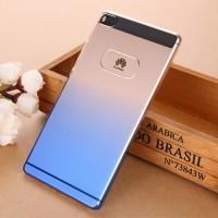 Пластиковый градиентный полупрозрачный чехол с отверстием для лого для Huawei P8 Синий