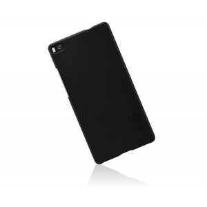 Пластиковый матовый нескользящий премиум чехол для Huawei P8 Черный
