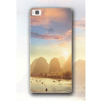 Пластиковый матовый полупрозрачный чехол с УФ-принтом для Huawei P8