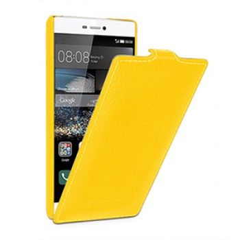 Кожаный чехол вертикальная книжка (нат. кожа) для Huawei P8