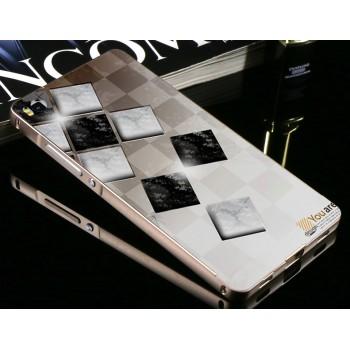 Гибридный металлический двухкомпонентный чехол с поликарбонатной крышкой с принтом для Huawei P8