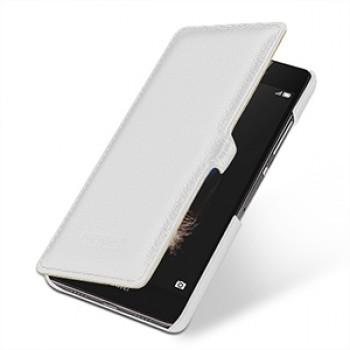 Кожаный чехол горизонтальная книжка (нат. кожа) с защелкой для Huawei P8 Lite