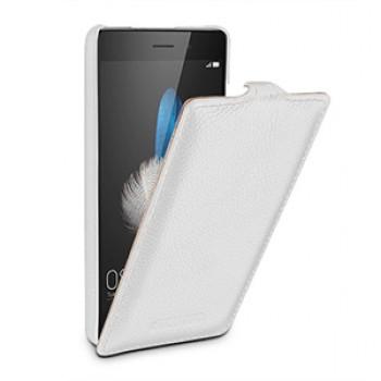 Кожаный чехол вертикальная книжка (нат. кожа) для Huawei P8 Lite