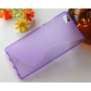 Силиконовый S чехол для Huawei P8 Lite Фиолетовый