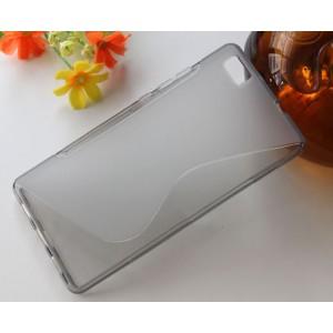 Силиконовый S чехол для Huawei P8 Lite Серый