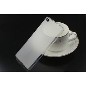 Силиконовый матовый полупрозрачный чехол для Huawei P8 Белый