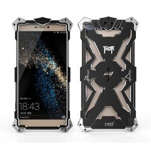 Металлический винтовой чехол повышенной защиты для Huawei P8 Черный