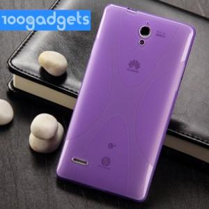 Силиконовый чехол X для Huawei Ascend G700 Фиолетовый