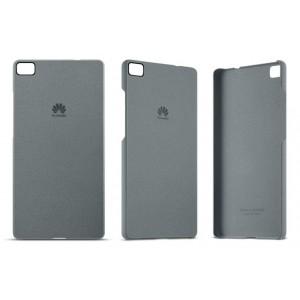 Оригинальный пластиковый матовый чехол с повышенной шероховатостью для Huawei P8 Серый
