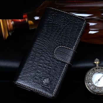 Кожаный чехол портмоне (нат. кожа крокодила) для Huawei P8