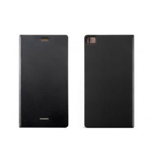 Оригинальный чехол горизонтальная книжка подставка на пластиковой основе для Huawei P8 Черный