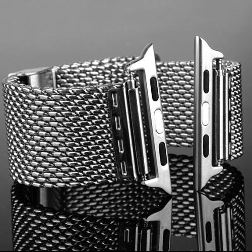 Универсальный коннектор из нержавеющей стали для крепления любых совместимых металлических ремешков для Apple Watch 42мм