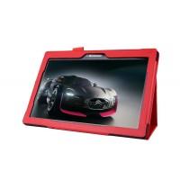 Чехол подставка с рамочной защитой для Lenovo Tab 2 A10-70/Tab 3 10 Business Красный