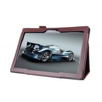 Чехол подставка с рамочной защитой для Lenovo Tab 2 A10-70/Tab 3 10 Business Коричневый