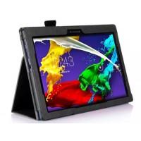 Чехол подставка с рамочной защитой и внутренними отсеками для Lenovo Tab 2 A10-70/Tab 3 10 Business Черный