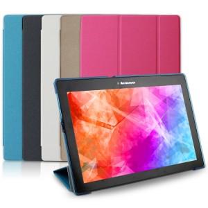Чехол флип подставка сегментарный на пластиковой полупрозрачной основе для Lenovo Tab 2 A10-70/Tab 3 10 Business