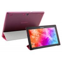 Чехол флип подставка сегментарный на пластиковой полупрозрачной основе для Lenovo Tab 2 A10-70/Tab 3 10 Business Пурпурный