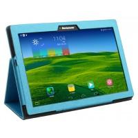 Чехол подставка с рамочной защитой текстура Золото для Lenovo Tab 2 A10-70/Tab 3 10 Business Голубой
