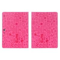 Текстурный чехол подставка с рамочной защитой для Lenovo Tab 2 A10-70/Tab 3 10 Business Пурпурный