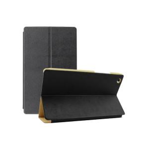 Чехол подставка текстурный на поликарбонатной основе для Lenovo Tab 2 A8 Черный
