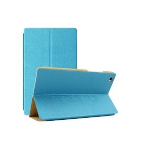 Чехол подставка текстурный на поликарбонатной основе для Lenovo Tab 2 A8 Голубой