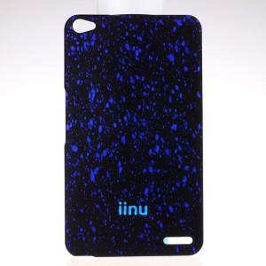 Пластиковый матовый дизайнерский чехол с голографическим принтом Звезды для Huawei MediaPad X2 Синий