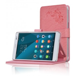 Чехол подставка текстурный для Huawei MediaPad X2 Розовый