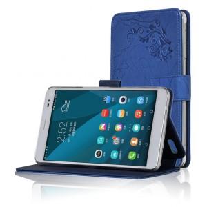 Чехол подставка текстурный для Huawei MediaPad X2 Синий