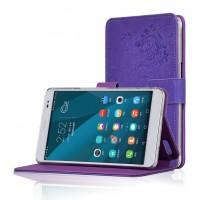 Чехол подставка текстурный для Huawei MediaPad X2 Фиолетовый