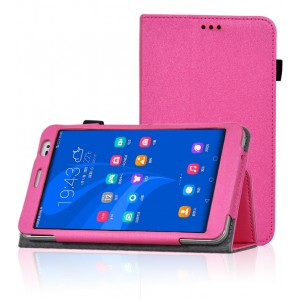 Чехол подставка с рамочной защитой для Huawei MediaPad X2 Пурпурный