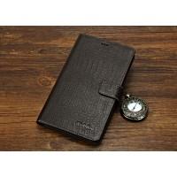Кожаный чехол портмоне (нат. кожа крокодила) для Huawei MediaPad X2 Коричневый