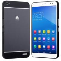 Двухкомпонентный чехол с металлическим бампером и поликарбонатной накладкой с лого для Huawei MediaPad X2 Черный